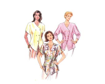 Misses Double Breasted Blouse Burda 3772 Sewing Pattern Size 8 - 10 - 12 - 14 - 16 - 18 UNCUT