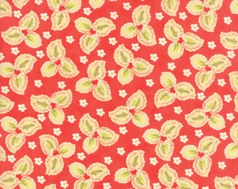Hazel and Plum - Autumn Leaves in Pomegranate Red: sku 20292-11 cotton quilting fabric by Fig Tree and Co. for Moda Fabrics