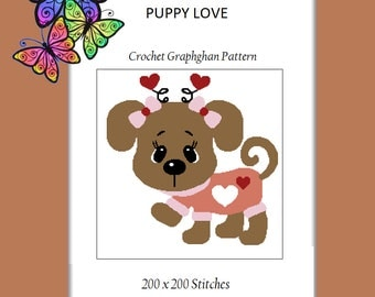 Puppy Love - Crochet Graphghan Pattern