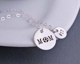 Personalized Soccer Mom Necklace, Soccer Mom Jewelry, Sports Mom Gift, Soccer Necklace