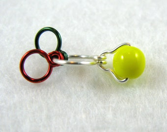 Bright Yellow Increase Decrease Knitting Stitch Marker - Size US 5 - Item No. 1011