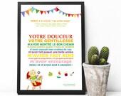 """PDF Affiche - """"Merci à la crèche/Merci nounou..."""" - cadeau crèche-nounou"""