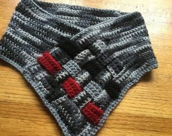 Warm Neckwear Crochet Basket Weave Cowl Adult Neckwarmer Valentines Gift