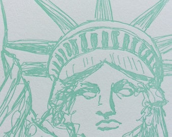 Liberty - eight letterpress note cards