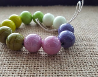 Handmade Lampwork Beads by SweetpeasGlassDesign - Days Complete - Rich Colours