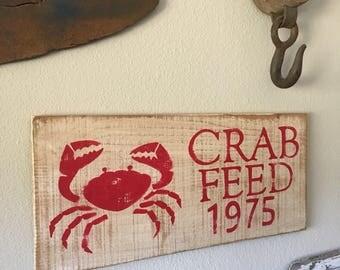 CRAB FEED Custom Year SIGN