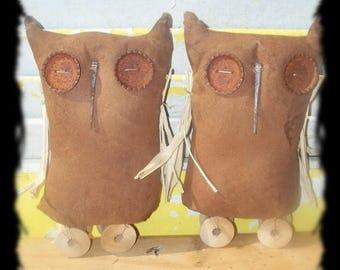 CustomerAppreciationSale Primitive Owl Bottlecap Pulltoy