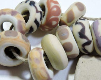 Lampwork  Beads NATURALS Two Sisters Designs 070717E