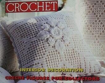 Crochet Patterns Magic Crochet 100 February 1996 Nativity Irish Crochet Pillows Vintage Paper Original, NOT a PDF