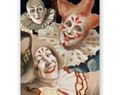 Scary Clowns Birthday Card
