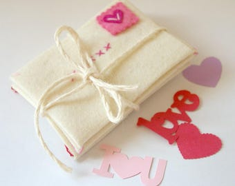 Valentine's Day Craft: Love Letter Envelopes, DIY Felt Craft (Natural Materials, 100% Wool Felt, Hand Dyed) Materials and Instructions