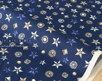 Japanese Fabric metal studs - blue - 50cm