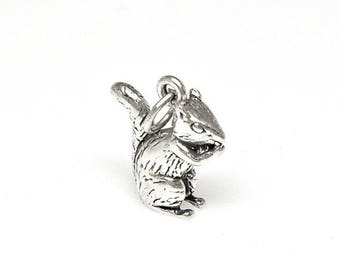 Welcome Summer Sale Chipmunk Sterling Silver 3D Charm Pendant Customize Customize no. 2181