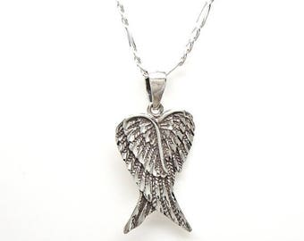 SALE Angel or Fairy Wings Sterling Silver Charm Pendant Customize no. 1917