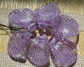 SRA Lampwork Glass Beads Handmade by Catalinaglass  Fairy Wings Lavender