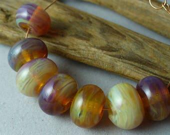 Lampwork beads/SRA lampwork/beads/handmade lampwork/opals/Double Helix/silver glass/