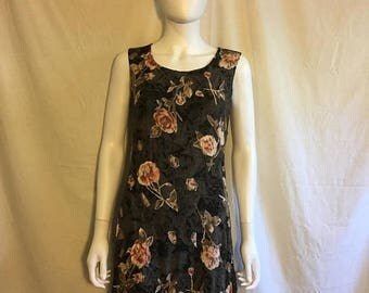Closing Shop 40%off SALE 90s floral short grunge dress