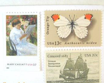 Wedding Postage Stamps 2018, Cassatt Painting - Butterfly - Ship - Bird Stamps, Mail 20 Invitations 2 oz 71 cent postage Nautical Nature Art