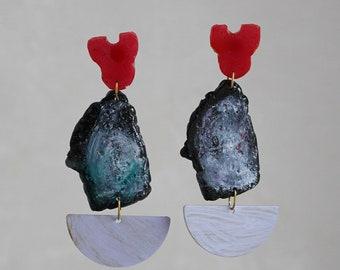 made to order// asphalt_series_ earrings/handmade in Italy