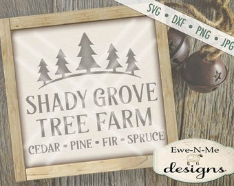 Tree Farm SVG - Winter SVG - Pine Tree svg - Christmas svg  - glass block svg - Christmas sign svg - Commercial Use svg, dxf, png, jpg