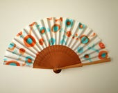 RESERVED for Bernadette.Hand fan Handpainted Silk-Spanish hand fan-Abanico-Wedding gift-Giveaways-Bridesmaids
