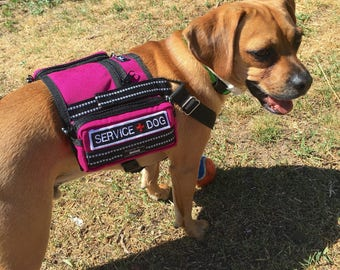 Service Dog backpack style vest size small with Y straps - custom made - 24 colors to choose from