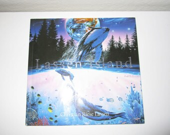 Lassen Island - Dolphin Coral Reef Sealife Art Book - By Christian Riese Lassen - Vintage 90s - Softcover Book - Color