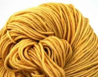 Windham 100% US Merino Hand Painted worsted weight 220 yds 201m ~4oz 113g Golden