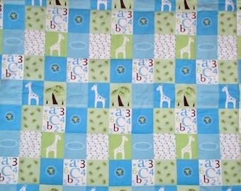 Giraffe ABC Baby Quilt---baby blanket