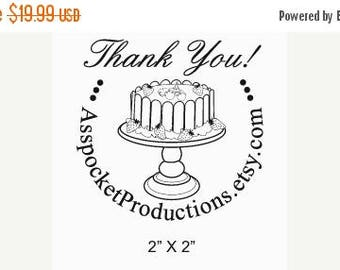 Super Summer Sale Strawberry Trifle Custom Thank You Rubber Stamp AD98