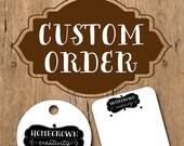 Custom Earring Cards for scrable