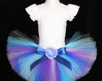 SUMMER SALE 20% OFF Blue Purple Tutu, Mermaid Tutu, Birthday Tutu, Baby Tutu, Toddler Tutu, Girls Tutu, Blue Tutu, Purple Tutu, Morning Glor