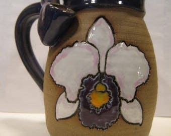 Purplish Orchid   - Wake and Bake Mug .... * AWESOME * MUG and a  PIPE *  ............ A113