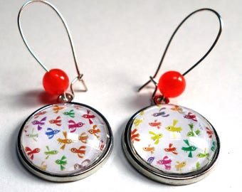 Earrings, a thousand birds BO219A