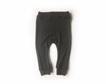 cocoa stripe baby wool longies, woollen leggings, stripe wool pants