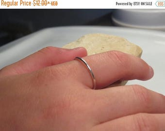 SALE - Thin sterling silver ring, Extra skinny ring, Minimal ring, Silver stacking rings