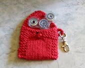 Fidget Spinner Case - Lucky Ladybug Hand Knit Spinner Cozy - Red Fidget Spinner Cozy - Hand Spinner Case - Spinner Pouch