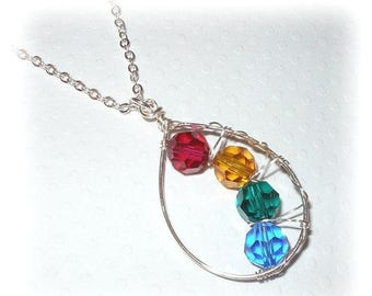 15% OFF Mothers Birthstone Pendant Necklace
