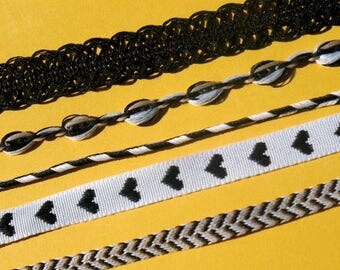 Black Hearts - Live Love Create Ribbon Set