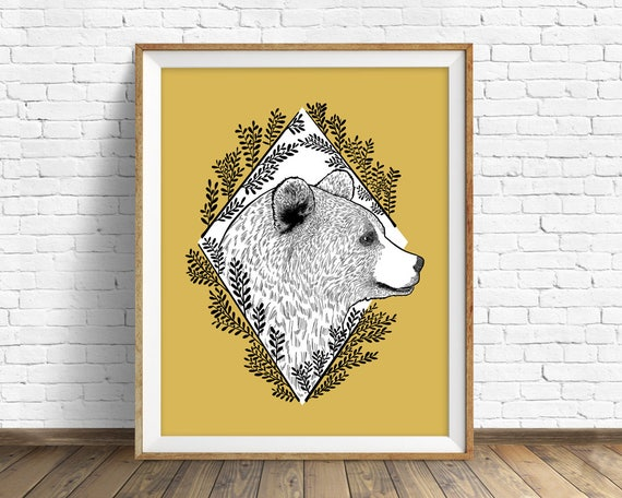 Kodiak Bear - art print