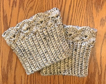 Oatmeal Fleck Boot Cuffs, Boot Toppers