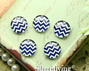 SALE - 30% OFF 10mm Glass Cabochon, 8mm 12mm 14mm 16mm 20mm 25mm 30mm Round chevron  glass Dome - BCH243L