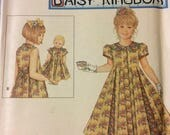 Uncut Simplicity 8561 Sewing Pattern  Girl's Holiday Dress with matching Doll Dress Size 7-12 Uncut Complete Daisy Kingdom