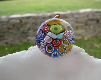 Millefiori Pendant Bead - Venetian Murano Glass