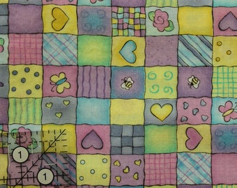 """Daisy Kingdom Playtime Jelly Bean Junction  fabric 100% cotton 42""""-44"""" wide  lic Henry Glass"""