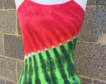 Watermelon Tie Dye Spaghetti Strap Tank