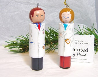 PHARMACIST Ornament Hand painted Male or Female Can Be Personalized