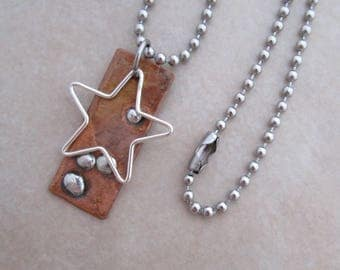 sky star necklace stainless steel soldered copper sterling silver