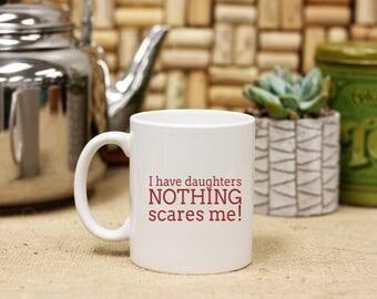 Personalized Dad Father's Day Coffee Mug from Daughter, Custom Print Coffee Mug, Ceramic Coffee Mug, White Only --27110-CM03-601