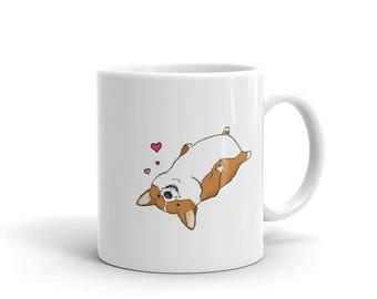 Corgi, Corgi Mug, Dog Mug, Funny Mug, Dog Lover Gift, Gifts for Dog Lovers, Funny Pet Gift, Coworker Gift, Ceramic Mug, Coffee Mug, Puppy